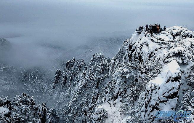 大美黄山在冬季......